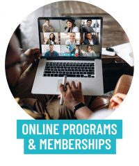 Online programs and memberships services to radiantly shine online.