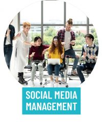 Social Media management services to radiantly shine online.