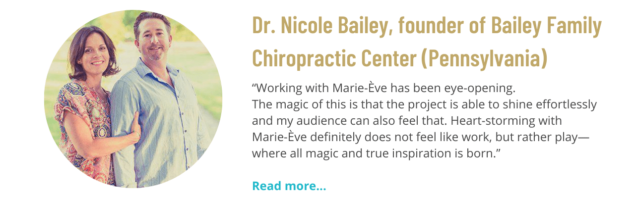 Testimonial from Dr. Nicole Bailey, founder of Bailey Family Chiropractic Center (Pennsylvania)
