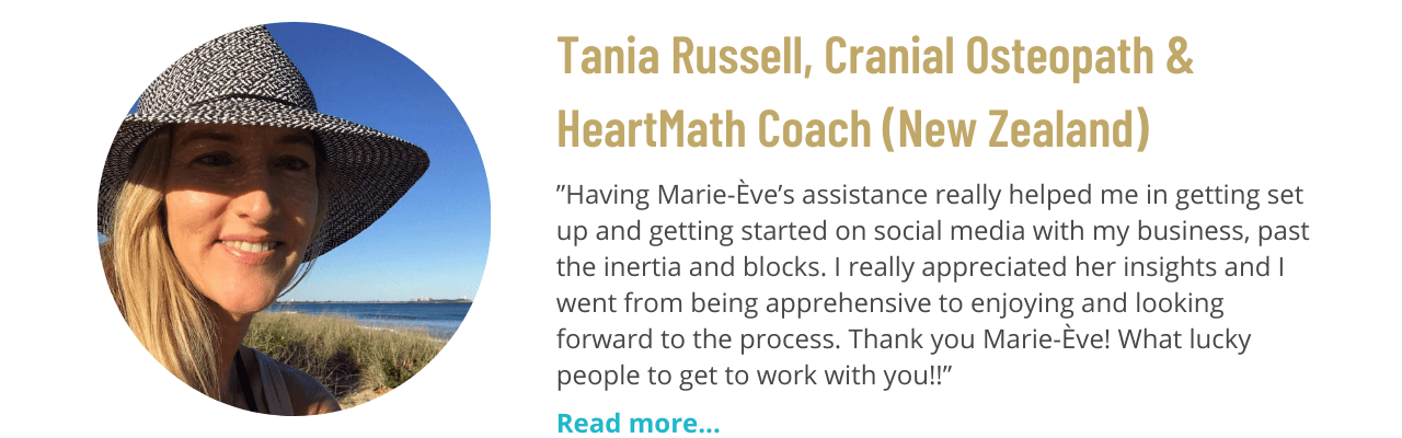 Testimonial from Tania Russell, Cranial Osteopath and HeartMath Coach at Heart-Centered Living (New Zealand)
