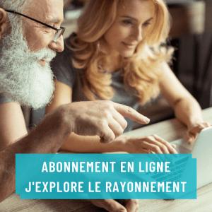 Abonnement en ligne J'explore le Rayonnement pour rayonner sur le Web