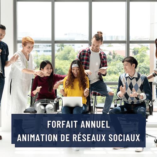 Forfait annuel pour service d'animation de réseaux sociaux par Rayonner sur le Web