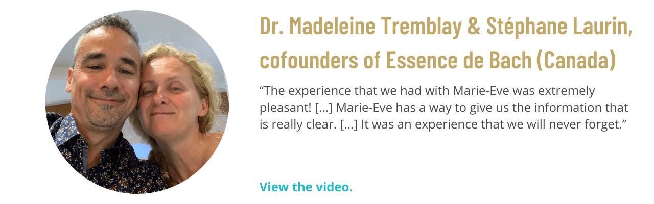 Dr. Madeleine Tremblay, cofounder of Essence de Bach (Canada)
