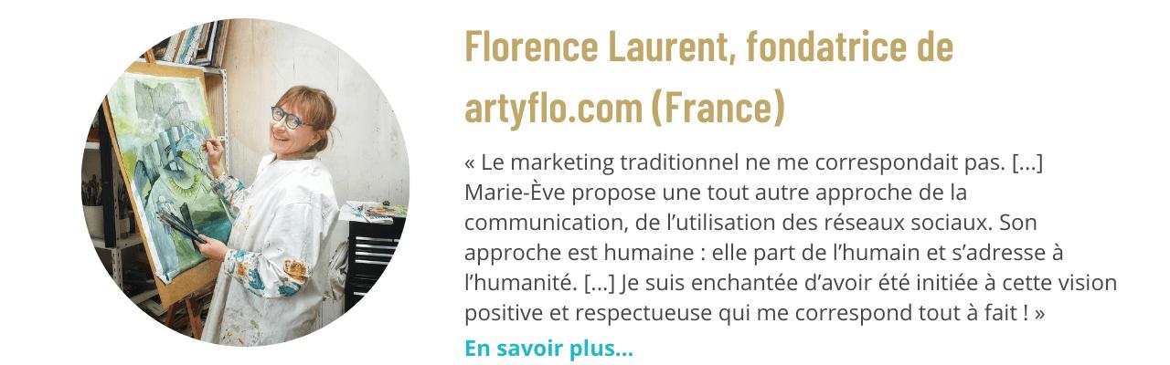 Témoignage de Florence Laurent, fondatrice de artyflo.com (France)